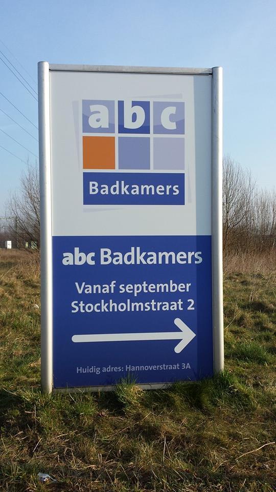 Zuil ABC Badkamers - Speer reclame servicesSpeer reclame services