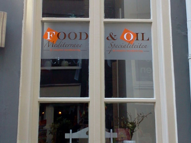 Raambelettering Food & Oil