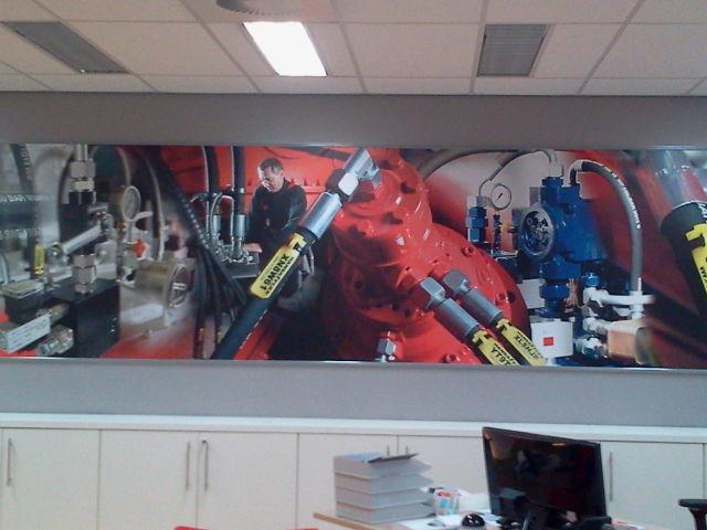Full colour doek in frame