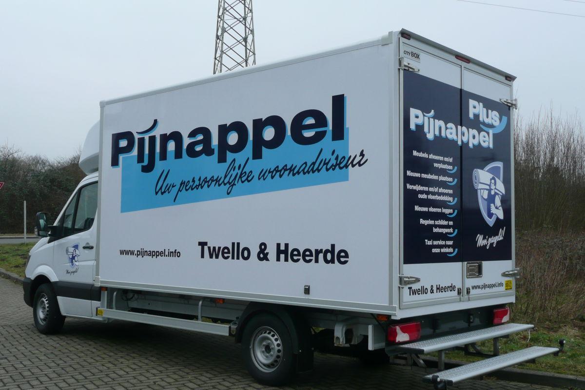 Bedrijfswagen Pijnappel Wonen