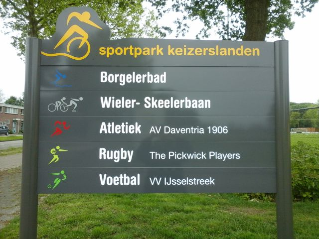 Bord Sportpark Keizerslanden